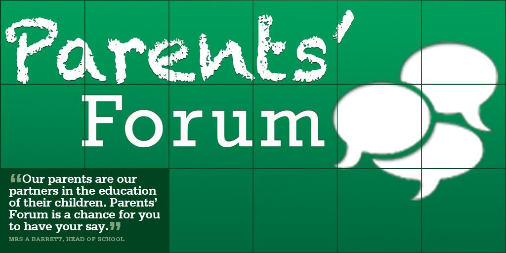 November 11 Parents Forum Monday 11 November 6 7pm