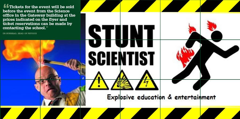 10 April - Dr Bunhead Stunt Scientist