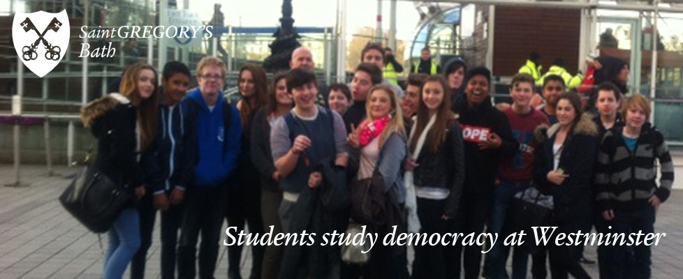 Students study democracy at Westminster