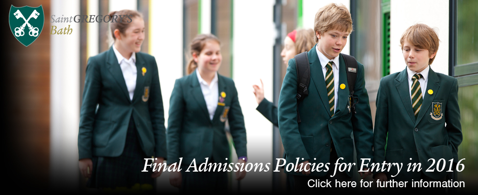 Final Admissions Policies for Entry in 2016