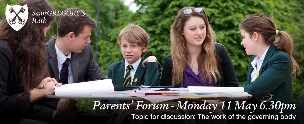Parents Forum Monday 7 May 6.30pm
