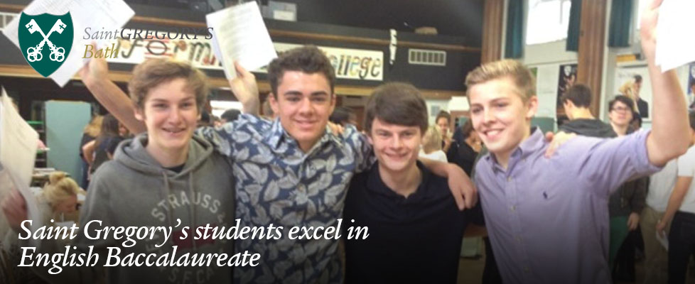 St Gregory's Students Excel in English Baccalaureate
