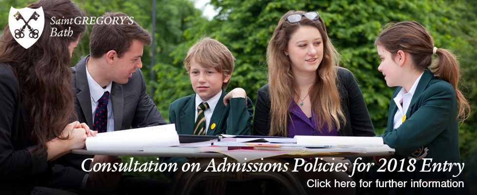 Consultation on Admissions Policy for entry in 2018