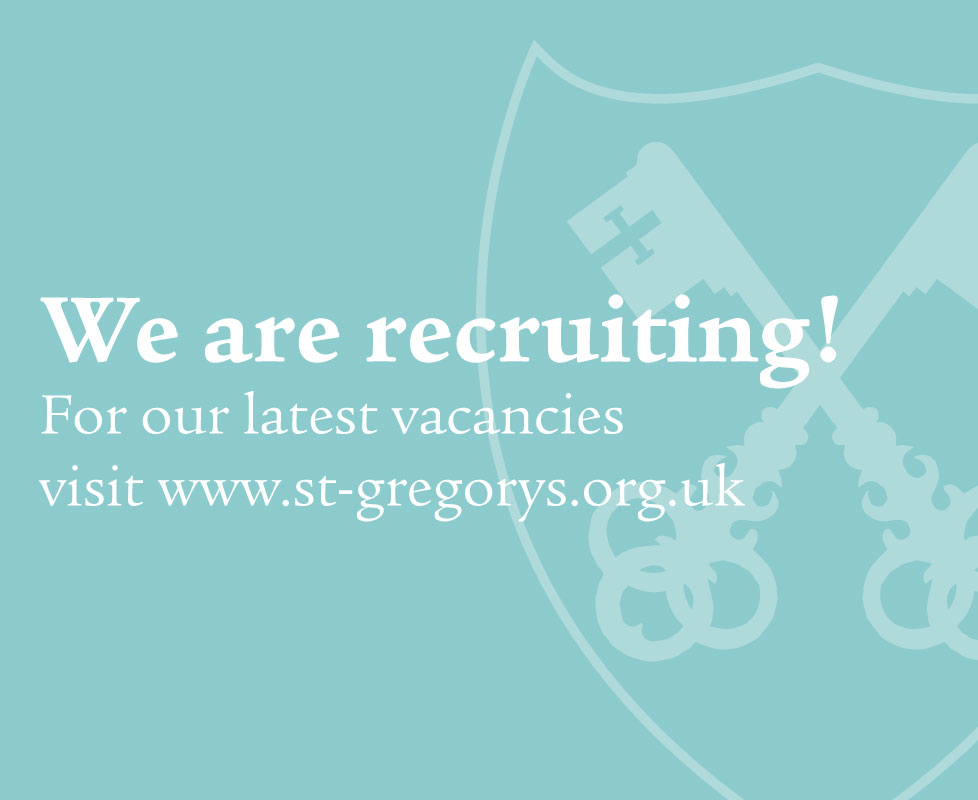 St Gregorys Recruitment Thumbnail
