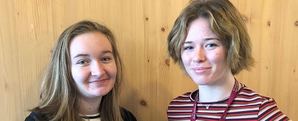 The N6 Journalists Chloe B and Chloe S