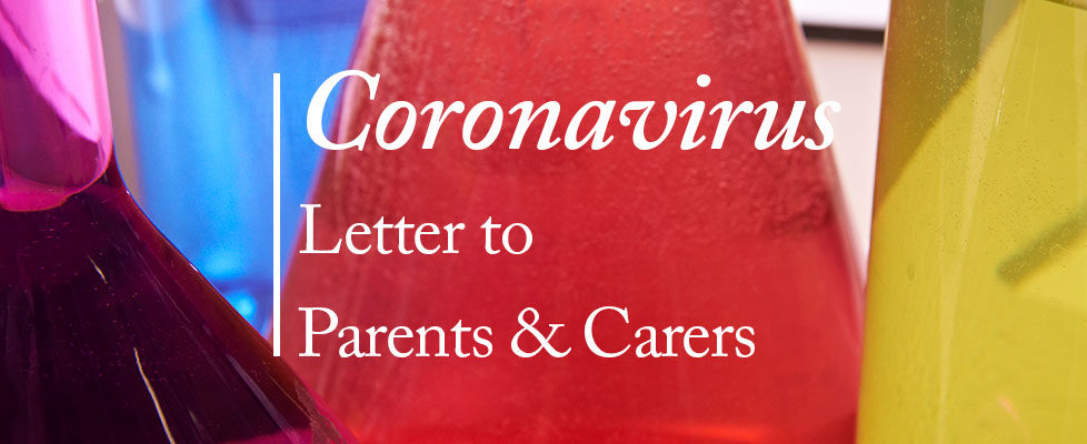 Coronavirus – Letter to Parents & Carers 12.3.2020