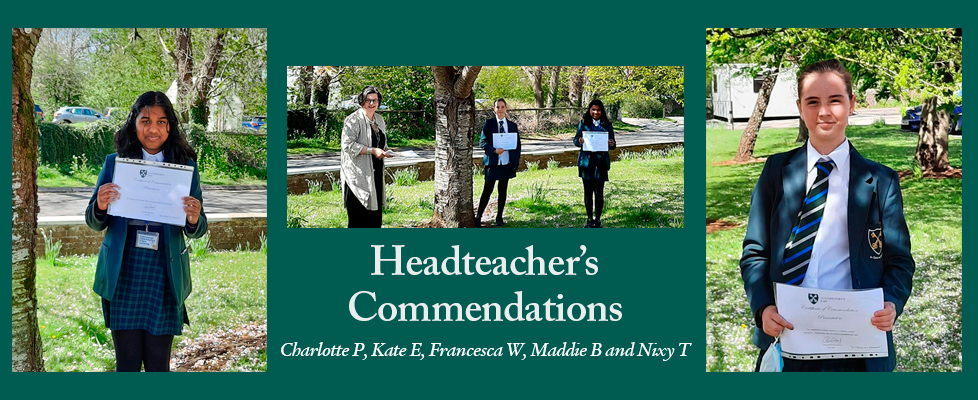 Headteachers-Commendation